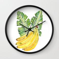 Banana Bunch – Green Leaves Wall Clock