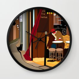 Romance Outside the Paris Cafe Wall Clock