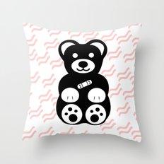 Black Teddy Bear Throw Pillow