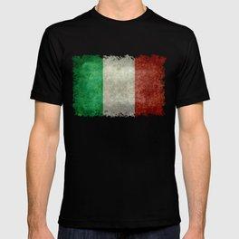Italian flag, vintage retro style T-shirt