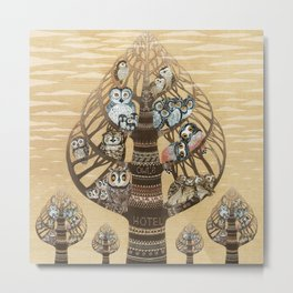Owl Hotel Metal Print