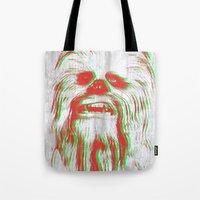 chewbacca Tote Bags featuring Chewbacca by mangen