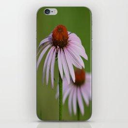 Purple Coneflower Pair - A Butterfly's Best Friend iPhone Skin