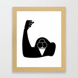 Ice Cream Biceps Framed Art Print