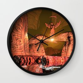 The angel of death Wall Clock