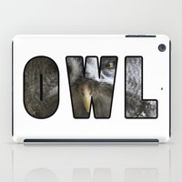font iPad Cases featuring Font Owl by Jinzha Bloodrose