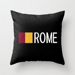 Italy: Roman Flag & Rome Throw Pillow
