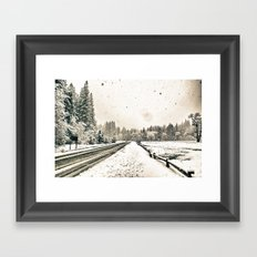 Yosemite Snowy Meadow Framed Art Print