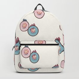 Vintage Baby Cameos Repeat in Light Apricot Backpack