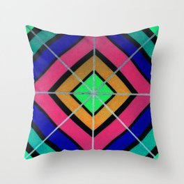 Faded Lines Throw Pillow