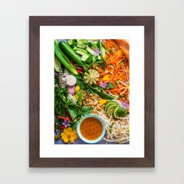 Mise en Place Framed Art Print