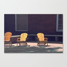 Yellow Chairs Canvas Print