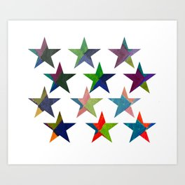 Water stars Art Print