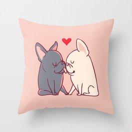 French Kiss Throw Pillow