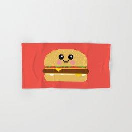 Happy Pixel Hamburger Hand & Bath Towel