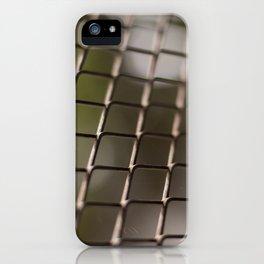 Closeup grid grille texture detail iPhone Case