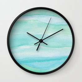 Ocean Layers - Blue Green Watercolor Wall Clock