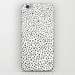 Black Dots Abstract 1 iPhone Skin