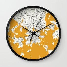 Helsinki map Wall Clock