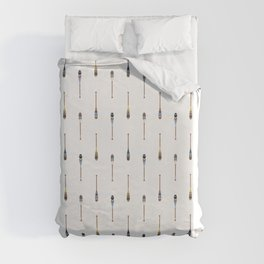 Painted Paddle Pattern Duvet Cover