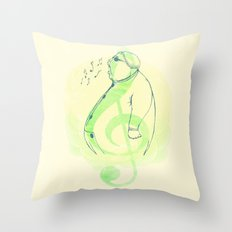 Color, Shape and Sound Throw Pillow