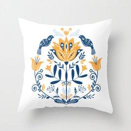 Scandinavian Folk Study 010 Throw Pillow