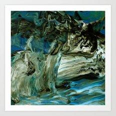 Granite Waterfall Art Print