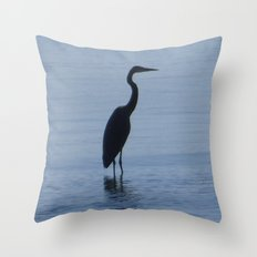 The Blue Heron Throw Pillow