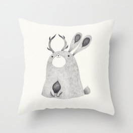 jackalope Throw Pillow