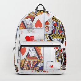 CASINO NIGHTS RED QUEENS OF HEARTS  & KING PLAYING  CARDS Backpack