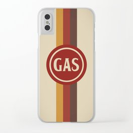Retro Gas Station Clear iPhone Case