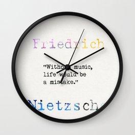 Friedrich Nietzsche quote 2 Wall Clock