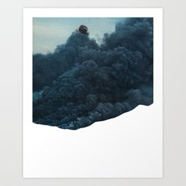 mr. smoke Art Print