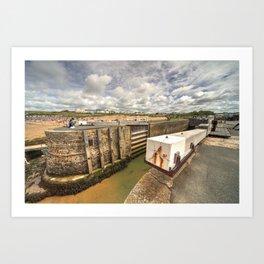 Bude Canal Lock Art Print