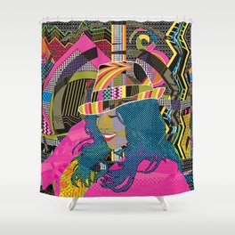 Groove and Pop Shower Curtain