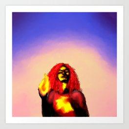 queen of flames Art Print