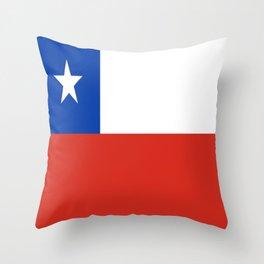 flag of Chile- -Spanish,Chile,chilean,chileno,chilena,Santiago,Valparaiso,Andes,Neruda. Throw Pillow