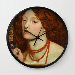 """Dante Gabriel Rossetti """"Regina Cordium"""" Wall Clock"""