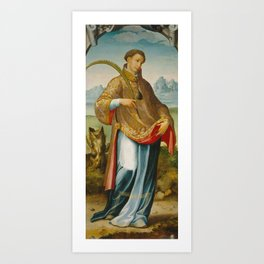 CORREA DE VIVAR, JUAN Mascaraque Toledo, 1510 - Toledo, 1566 Saint Stephen , The Imposition of the C Art Print