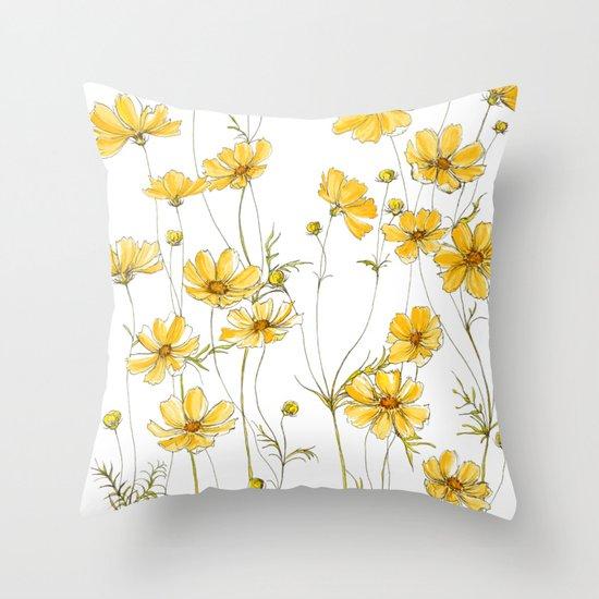 Yellow Cosmos Flowers by jrosedesign