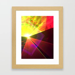 Red and Yellow laser Framed Art Print