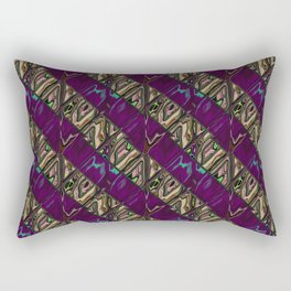 Gold and Purple Rectangular Pillow