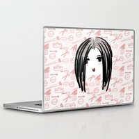 makeup Laptop & iPad Skins featuring makeup girl ^-^ by naufba
