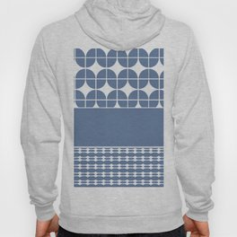 Decorative Cool Blue and White Pattern Design Hoody