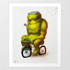 Bike Monster 1 Art Print