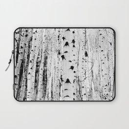 Black and White Aspen Trees Laptop Sleeve