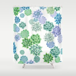 Floral succulent pattern Shower Curtain