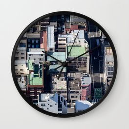 Toyko Rooftops Wall Clock