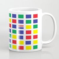waldo Mugs featuring Square's Waldo by Jonah Makes Artstuff