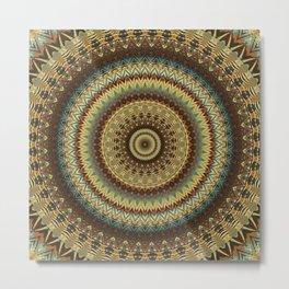 Earth Mandala 8 Metal Print